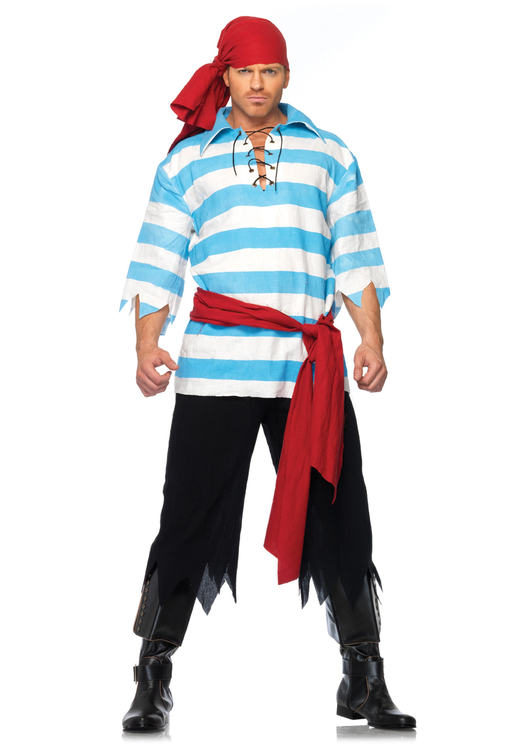 Mens Pillaging Pirate Costume - Simple Halloween Costumes For Guys