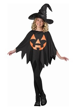 Child Jack O'Lantern Poncho