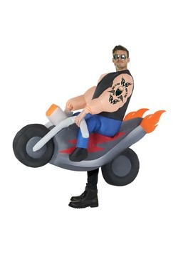 Adult inflatable Hells Biker Costume