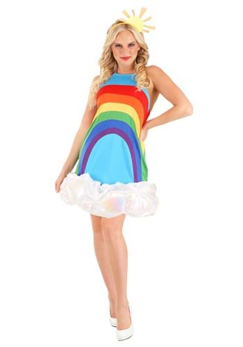 Womens Rainbow Dress Costume