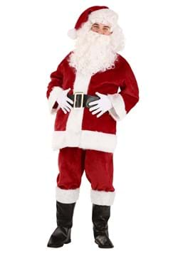 Adult Deluxe Red Santa Claus Costume