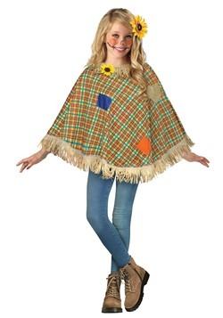Child Sweet Scarecrow Poncho