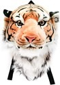Orange Bengal Tiger Animal Head Backpack and Wall