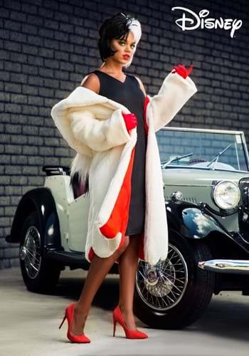 Womens Deluxe Cruella De Vil Costume-2-2