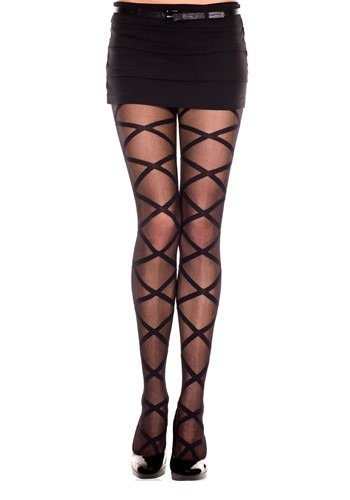 Criss Cross Leg Wrap Tights for Women