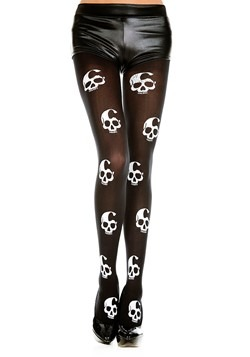 Women's Skull Print Tights