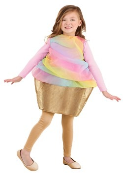 Girl's Rainbow Cupcake Costume