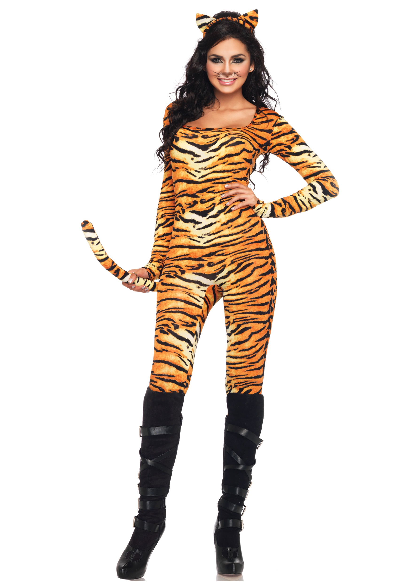 Sexy Wild Tiger Costume  sc 1 st  Halloween Costumes & Tiger Costumes For Adults u0026 Kids - HalloweenCostumes.com
