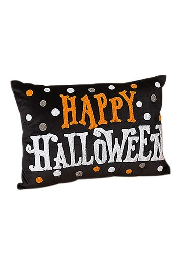 "20"" Fabric ""Happy Halloween"" Pillow"