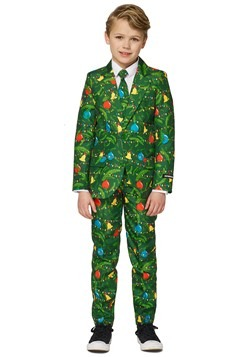 Boy's Green Christmas Tree Light Up Suit