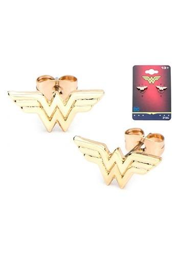 DC Comics Wonder Woman Logo Stud Earrings