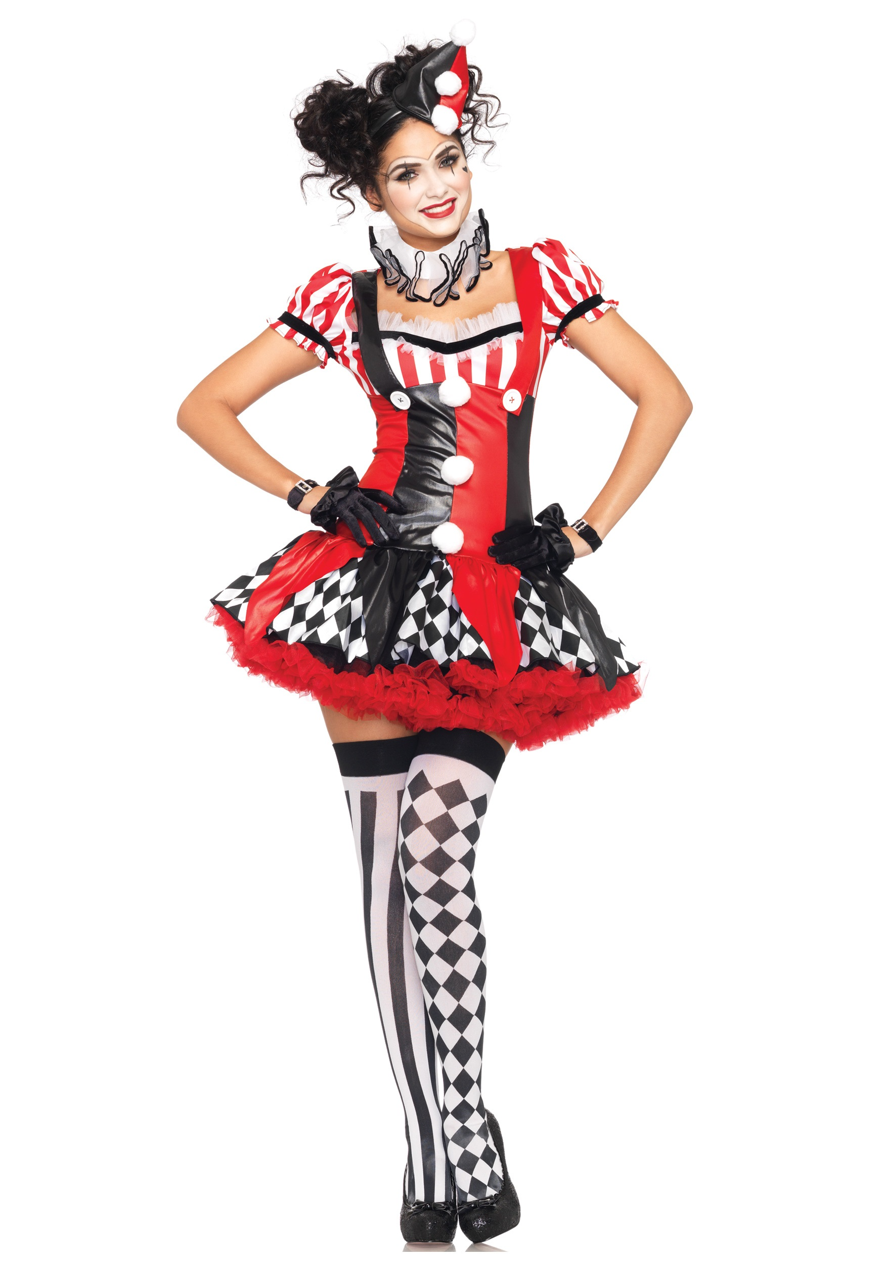 Naughty Harlequin Clown Costume  sc 1 st  Halloween Costumes & Clown Costumes - Adult Kids Clown Costume for Halloween