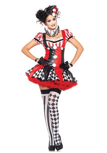 Naughty Harlequin Clown Costume for Women