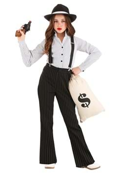 Girl's 1920s Gangster Lady Costume