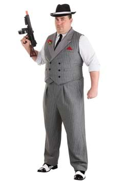 Mens Plus Size Ruthless Gangster Costume