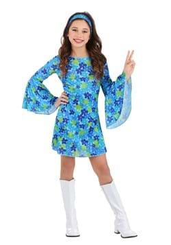 Girls Wild Flower 70s Disco Dress Costume