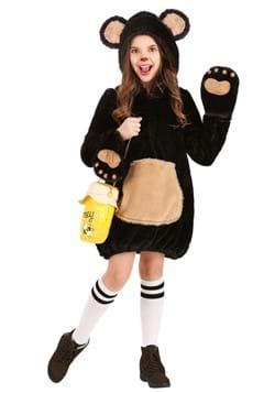 Girl's Cozy Brown Bear Costume
