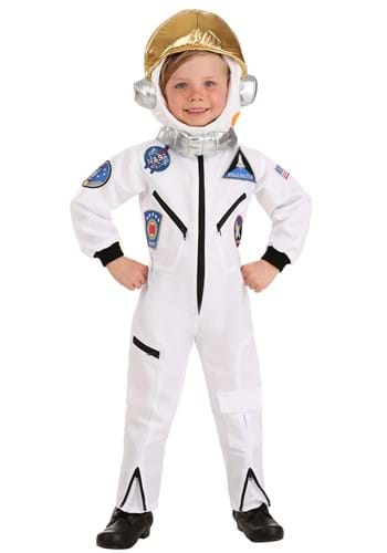 Toddler White Astronaut Jumpsuit Costume