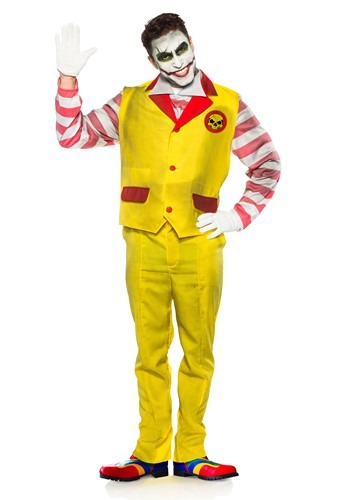 Men's Evil Fast Food Clown Costume