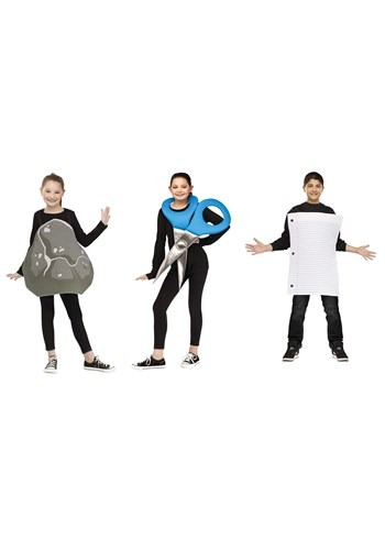 Kids Rock, Paper, Scissors Costume