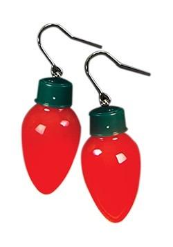 Light Up Christmas Bulb Earrlings