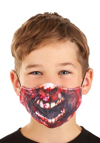 Child Zombie Sublimated Face Mask