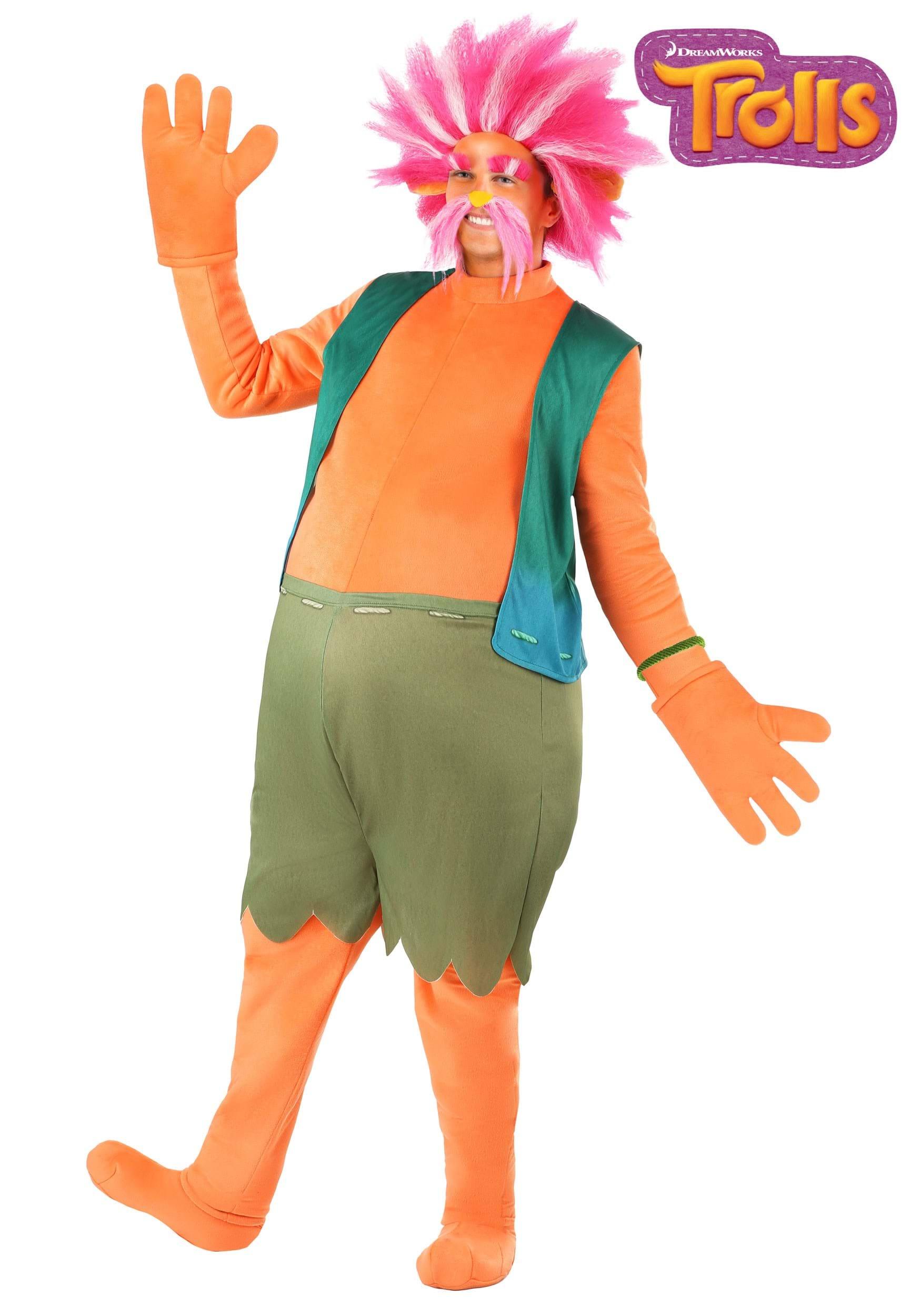 King Peppy Trolls Costume For Men