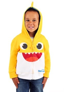 Toddler Yellow Baby Shark Costume Hoodie