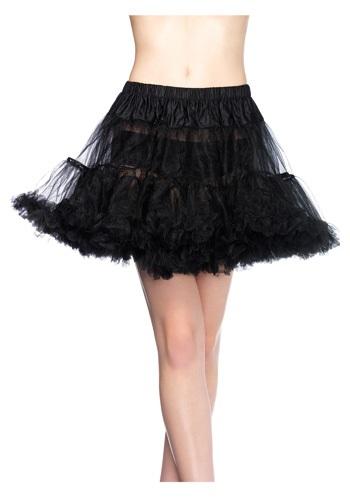 Plus Size Black Tulle Petticoat