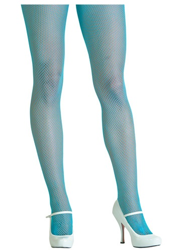 Click Here to buy Neon Blue Fishnet Tights from HalloweenCostumes, USA Funds & Shipping