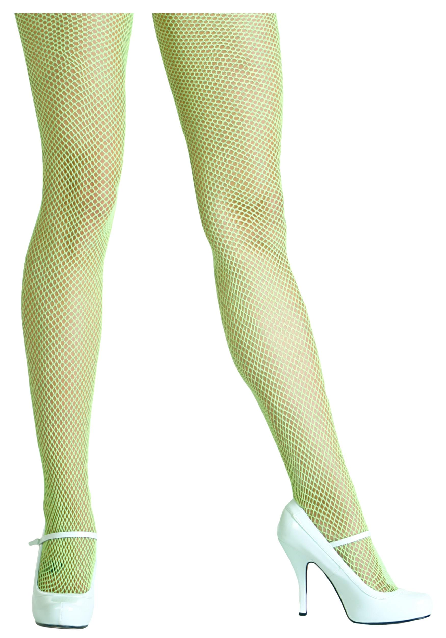 Green Fishnet Tights Neon Green Fishnet Tights