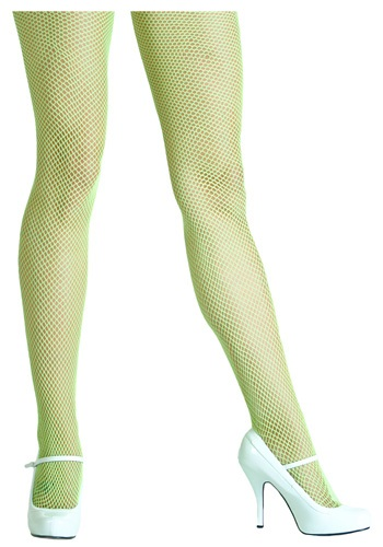 Neon Green Fishnet Tights