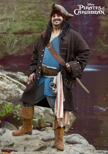 Plus Size Mens Authentic Captain Jack Sparrow Costume-2