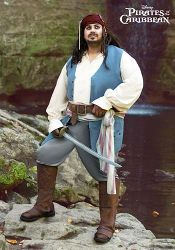 Captain Jack Sparrow Plus Size Costume for Adults-2