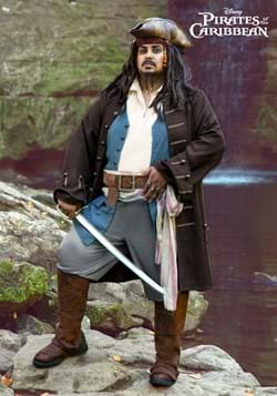 Deluxe Jack Sparrow Pirate Plus Size Mens Costume-2