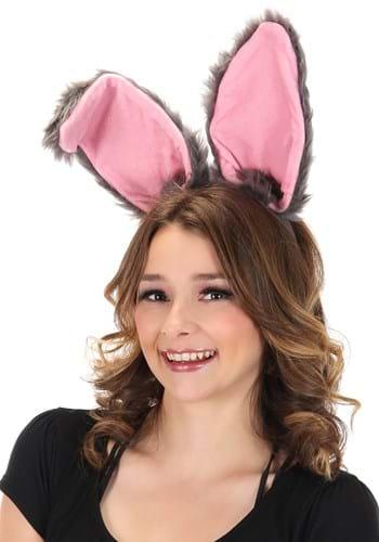 Bendy Bunny Ears Headband Gray Update