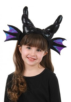 Black Dragon Horns Plush Headband