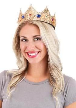 """Gold Ladies Pointed Crown Adjustable 3"""""""