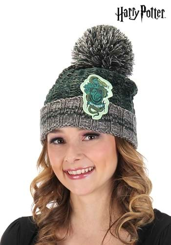 Slytherin Heathered Pom Beanie