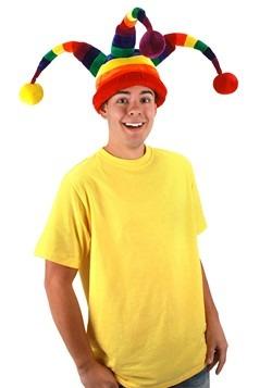 Rainbow Wacky Jester Plush Hat