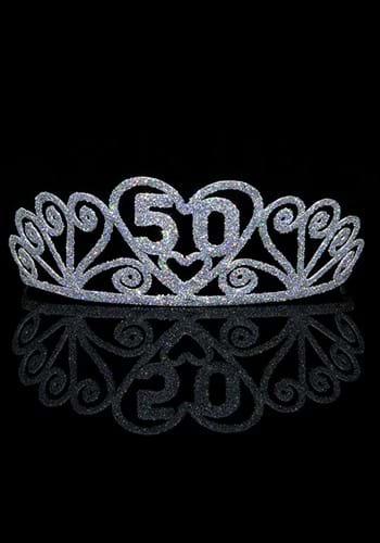 Silver 50 Sparkle Tiara