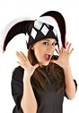 Court Jester Plush Hat Black & White