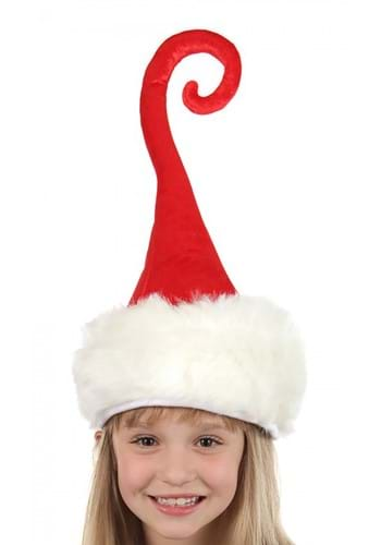 Curly Q Santa Plush Hat