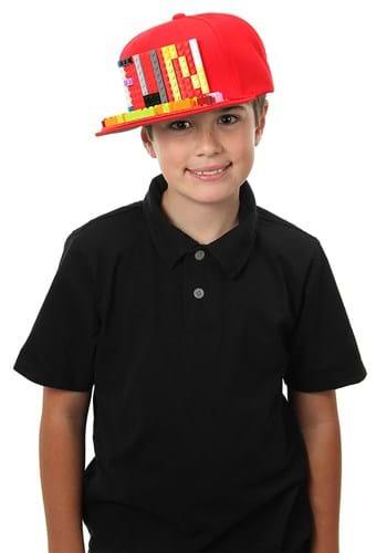 Bricky Blocks Snapback Hat Red Upd