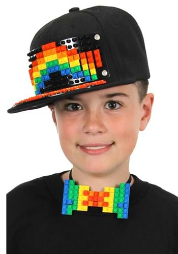 Bricky Blocks Black Snapback Hat Main Update