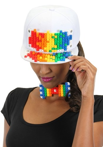 Bricky Blocks White Snapback Hat