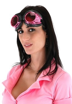 Pink & Black Radioactive Aviator Goggles