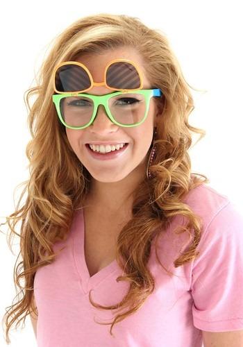 Neon Flip Ups Glasses