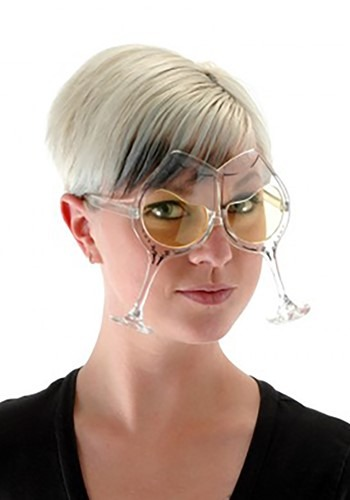 Wine Goblet Eyeglasses Clear Yellow