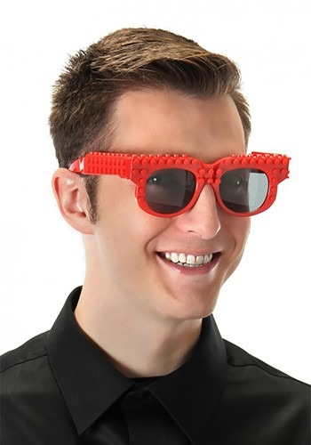 Bricky Blocks Glasses Red